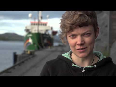 Greenpeace climbers at Gazprom Arctic rig: Sini Saarela, Finland
