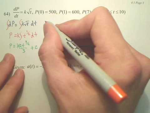4.1c1 Antiderivatives and Indefinite Integration - Calculus