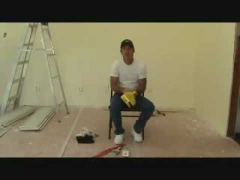 """How to paint a wall: using a """"cut in"""" paint brush"""