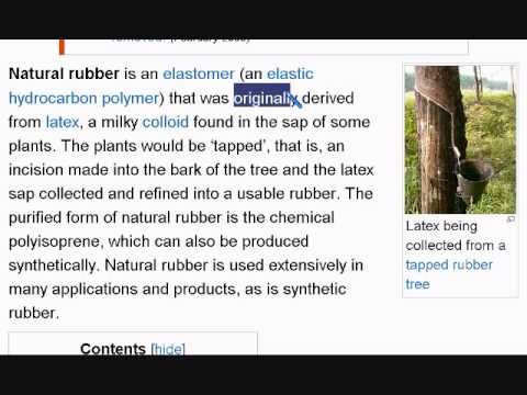 Learn English Reading Lesson #29 Natural Rubber