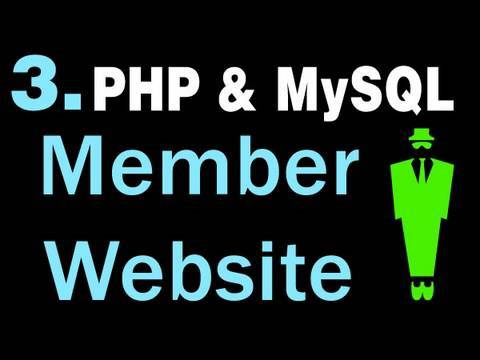 3. How to Create A Basic Membership Website System Using PHP and MySQL Tutorial