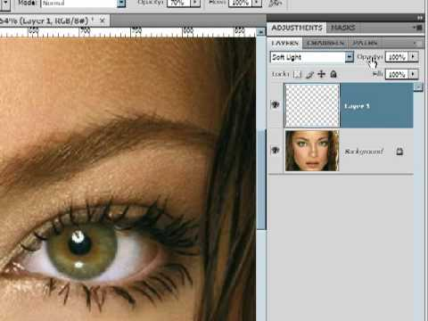 How To Add Mascara photoshop CS4 Lesson 10