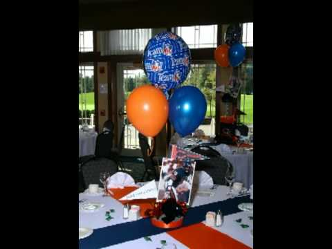 Chicago Bears Football Theme Party Centerpieces and Balloons by A BnC Parties and More