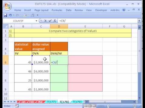 Excel Magic Trick #178: Best Value Per 1 Unit Of Stats Value