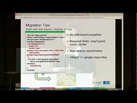 Google I/O 2010 - Porting v2 JavaScript Maps API apps to v3