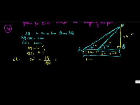 648.Class X - Practical application of Trigonometry - Problem on moving shadows