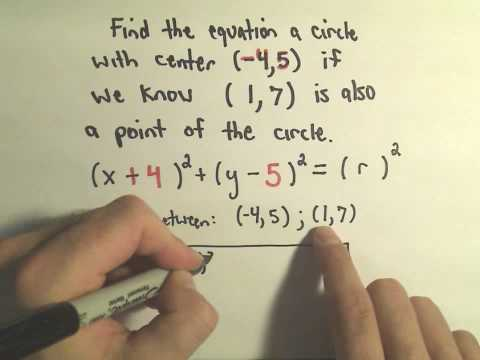 The Center-Radius Form for a Circle - A few Basic Questions, Example 2