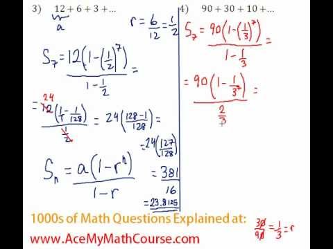 Geometric Series - Find the Sum Question #4