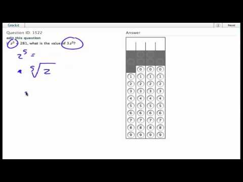 Grockit SAT Math - Student Produced Response: Question 1522
