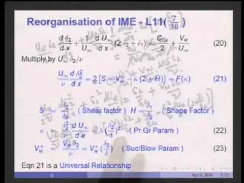 Mod-01 Lec-11 Integral Solns Laminar Velocity BL