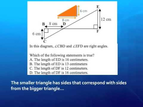 Solving for Similar Triangles