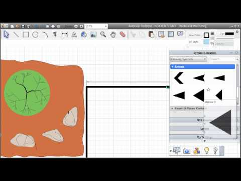 Adding Arrows to your AutoCAD Freestyle Drawing