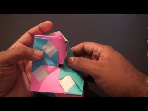 Origami Daily - 013: Square Box (Pin Wheel LID) version 2 - TCGames [HD]