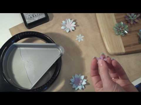 """Glass"" Flower Embellishments for Scrap Booking"
