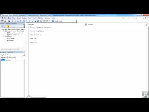 VBA for Access Tutorial Video | Creating a Procedure | InfiniteSkills Training Video