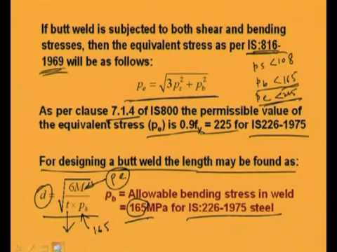 Mod-3 Lec-6 Load Lying Perpendicular to the Plane of Weld Joint: Fillet and Butt Weld