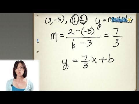 Finding the Equation of a Line in Slope-Intercept Form