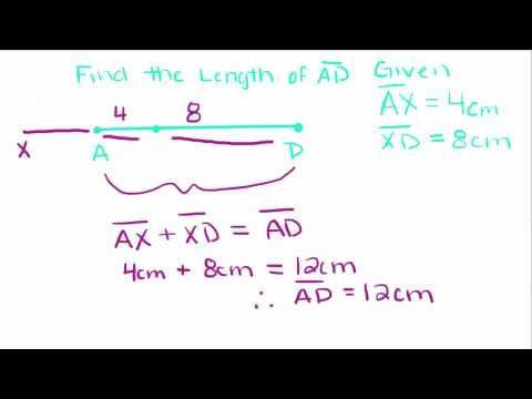 Introduction to Geometry - 1 - Congruence and Naming Properties of Segments