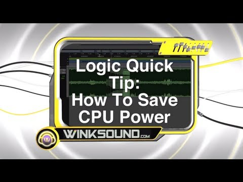 Logic Pro: Limit Number Of Undo To Save CPU Power | WinkSound