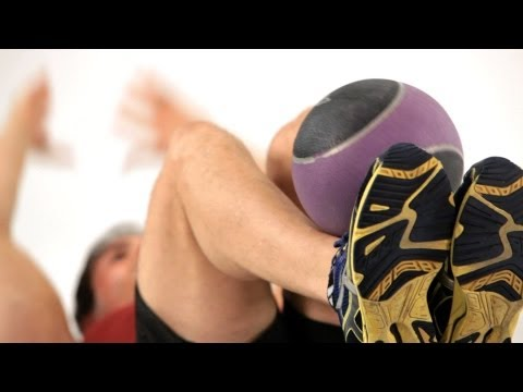 Super Crunches with Medicine Ball   Home Ab Workout for Men
