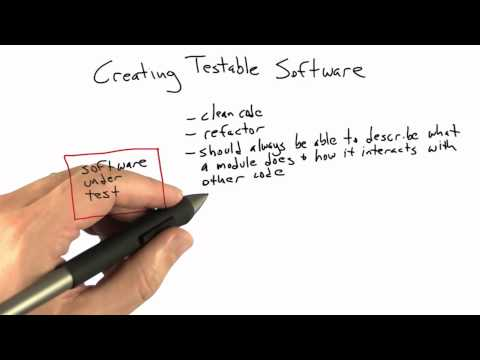 Creating Testable Software - Software Testing - Udacity