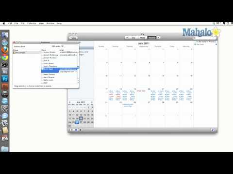iCal - Address Book Appointments - How to use Mac OS X Snow Leopard