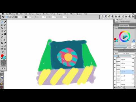 Preserve transparent layers in Painter 12 | lynda.com tutorial