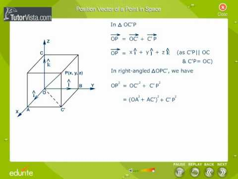 Position Vector Of Point In Space