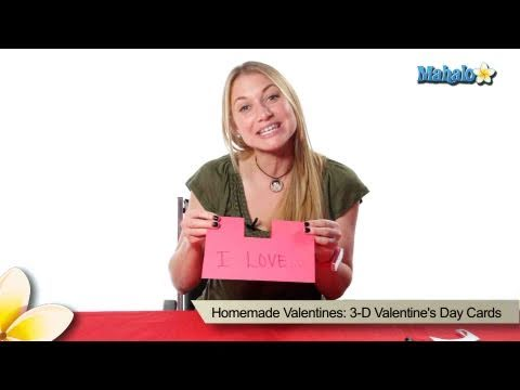 Homemade Valentines: 3-D Valentine's Day Cards