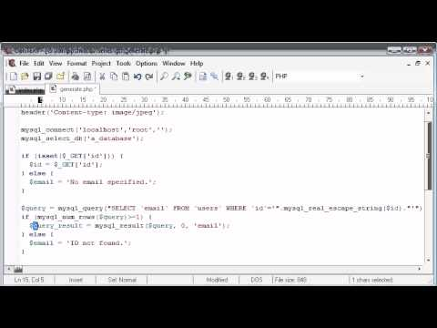 Beginner PHP Tutorial - 160 - Protecting Email with String to Image Part 4
