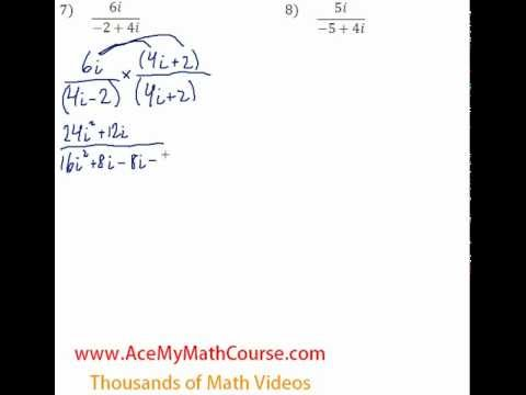 Complex Numbers - Rationalizing #7