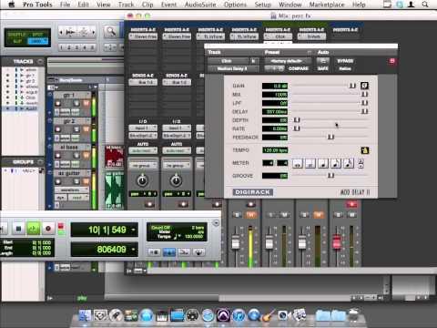 Avid Pro Tools 10 Tutorial | Percussion FX using the Click Track