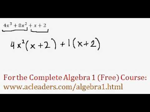 Polynomials - Factoring by Grouping Question #1