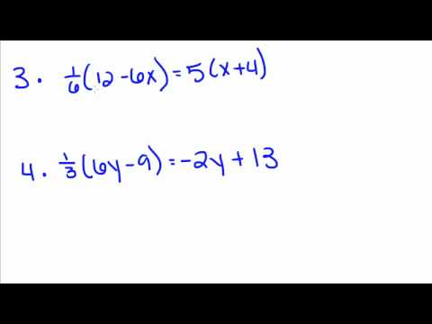 Algebra Tutorial - 8 - Solving Equations with Variables on Both Sides