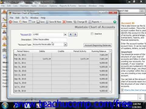 Peachtree Tutorial Adding Accounts Sage Training Lesson 3.2