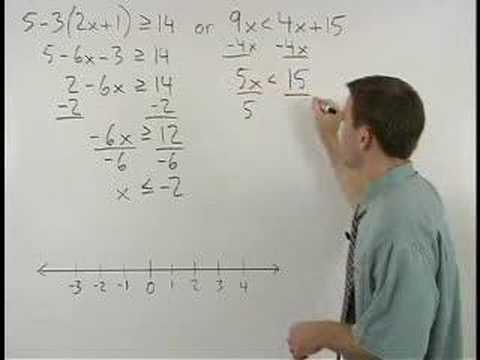 Solving Compound Inequalities - YourTeacher.com - Algebra Help