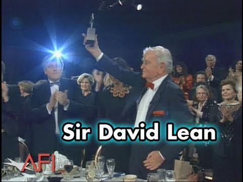 Sir David Lean Accepts the AFI Life Achievement Award in 1990