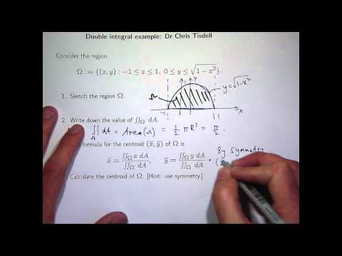 Centroid and double integrals