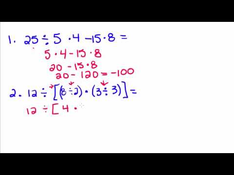 Algebra Tutorial - 2 - Order of Operations