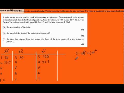 (Q3) M1 Mechanics June 2006 Edexcel Past Paper
