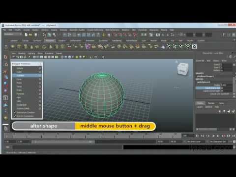 How to create polygonal objects in Maya | lynda.com tutorial