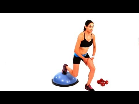 How to Do a Basic Bosu Ball Lunge | Exercise Ball Workout