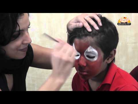 Face Painting - Paint a Spider Man