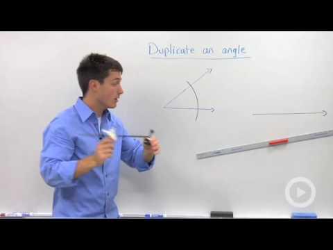 Duplicating an Angle