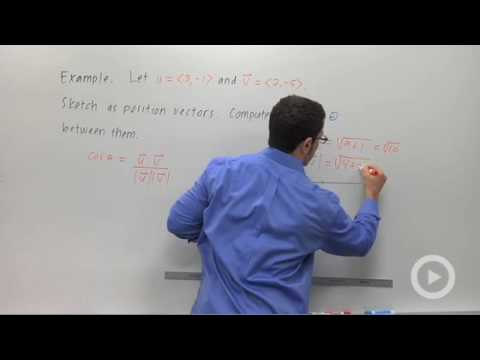 Precalculus - The Angle Between Vectors