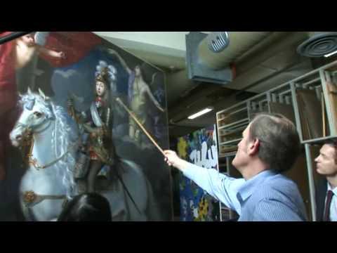La restaurations des peintures de l'exposition Louis XIV, l'homme et le roi