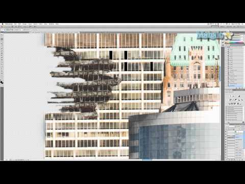 Photoshop Tutorial - Destroy City - Remove Windows