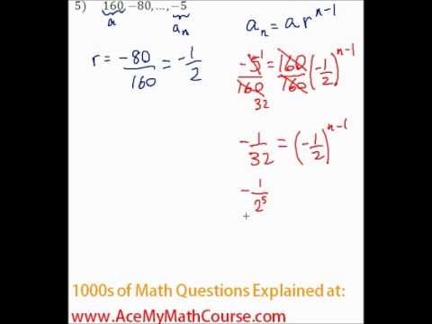 Geometric Sequences - Finding the Number of Terms Question #5