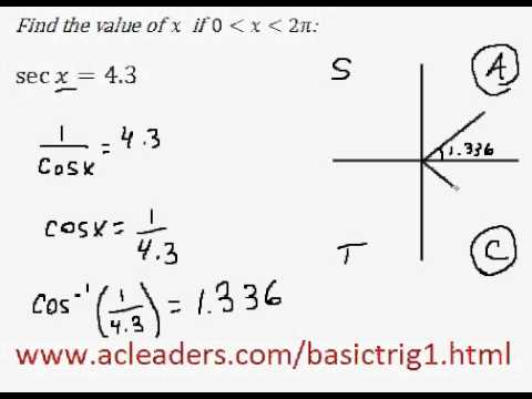 Solving simple trig equation (in radians) - EASY!!!! (pt.5)