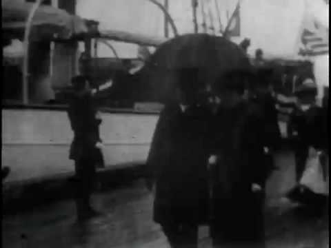 Arrival of Prince Henry [of Prussia] and President Roosevelt at Shooters Island